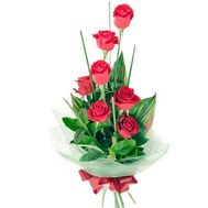 7 red roses - flowers and bouquets on flora.od.ua