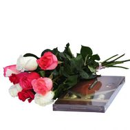 9 imported roses and sweets - flowers and bouquets on flora.od.ua