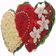 """Big heart of roses"" in the online flower shop flora.od.ua"
