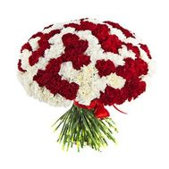 Large bouquet of 101 carnations - flowers and bouquets on flora.od.ua