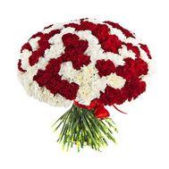 Большой букет из 101 гвоздики - цветы и букеты на flora.od.ua