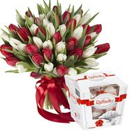 """Large bouquet of 51 tulips"" in the online flower shop flora.od.ua"