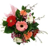 Bouquet of 9 different gerberas - flowers and bouquets on flora.od.ua