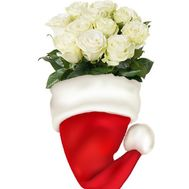 """Bouquet of white roses for the New Year"" in the online flower shop flora.od.ua"