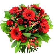 A bouquet of flowers in red tones - flowers and bouquets on flora.od.ua