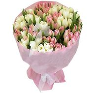 Bouquet of 101 tulips - flowers and bouquets on flora.od.ua