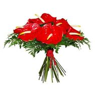 """Bouquet of 11 anthuriums"" in the online flower shop flora.od.ua"