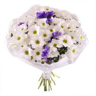 Bouquet from 13 white chrysanthemums - flowers and bouquets on flora.od.ua