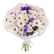 Букет з 13 білих хризантем - цветы и букеты на flora.od.ua