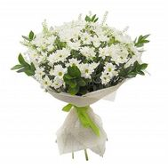 Букет из 13 белых хризантем - цветы и букеты на flora.od.ua