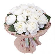 """Bouquet of 15 imported peonies"" in the online flower shop flora.od.ua"