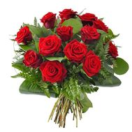 Bouquet of 15 red roses - flowers and bouquets on flora.od.ua