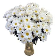 """Bouquet of 15 chamomile flowers"" in the online flower shop flora.od.ua"