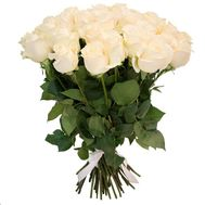 Bouquet of 21 white roses - flowers and bouquets on flora.od.ua