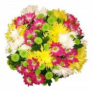 Bouquet of 21 chrysanthemums - flowers and bouquets on flora.od.ua