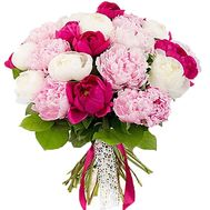 """Bouquet of 21 imported peonies"" in the online flower shop flora.od.ua"