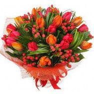"""Bouquet of 21 tulips"" in the online flower shop flora.od.ua"