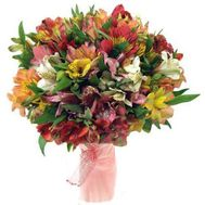 Bouquet of 45 multi-colored alstromeries - flowers and bouquets on flora.od.ua