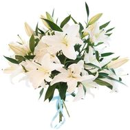 Bouquet of 5 lilies - flowers and bouquets on flora.od.ua