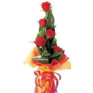 Bouquet of 5 roses - flowers and bouquets on flora.od.ua