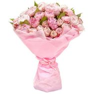 """Bouquet of 51 imported peonies"" in the online flower shop flora.od.ua"