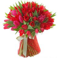 Bouquet of 51 red tulips - flowers and bouquets on flora.od.ua