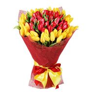 Bouquet of 51 tulips - flowers and bouquets on flora.od.ua