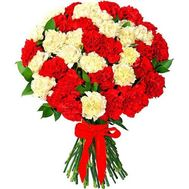 Букет из 55 гвоздик - цветы и букеты на flora.od.ua