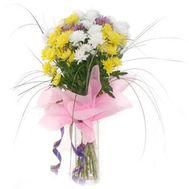 Букет из 7 разноцветных хризантем - цветы и букеты на flora.od.ua