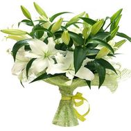 Bouquet of 9 white lilies - flowers and bouquets on flora.od.ua