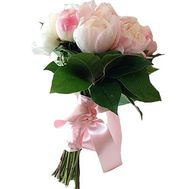 """Bouquet of 9 imported peonies"" in the online flower shop flora.od.ua"