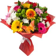 Bouquet of gerberas and chrysanthemums - flowers and bouquets on flora.od.ua