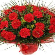 Букет из красных гвоздик - цветы и букеты на flora.od.ua