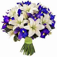 Bouquet of lilies and irises - flowers and bouquets on flora.od.ua