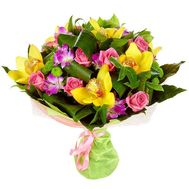 Bouquet of roses and orchids - flowers and bouquets on flora.od.ua