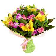 Букет з троянд і орхідей - цветы и букеты на flora.od.ua