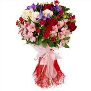 """Bouquet of roses and alstromeries"" in the online flower shop flora.od.ua"