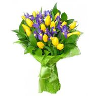 Bouquet of tulips and irises - flowers and bouquets on flora.od.ua