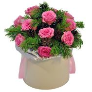 """Bouquet for New Year in box"" in the online flower shop flora.od.ua"