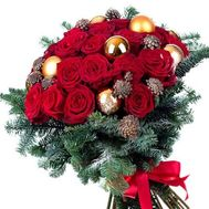 """New Years bouquet with roses"" in the online flower shop flora.od.ua"