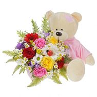 Bouquet with a bear - flowers and bouquets on flora.od.ua