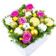 """A bouquet in a box for Christmas"" in the online flower shop flora.od.ua"
