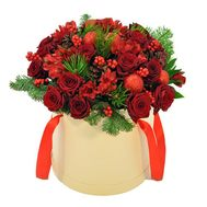 """Flowers in the box for the New Year"" in the online flower shop flora.od.ua"