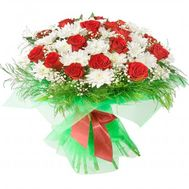 """Euro bouquet of fresh flowers"" in the online flower shop flora.od.ua"