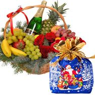 Fruits and sweets for the New Year - flowers and bouquets on flora.od.ua