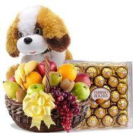 """""""Фрукты, собачка, конфеты"""" в интернет-магазине цветов flora.od.ua"""