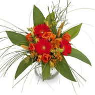 Gerberas and roses in a bouquet - flowers and bouquets on flora.od.ua