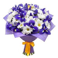 """Chrysanthemums and irises"" in the online flower shop flora.od.ua"