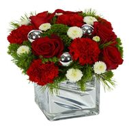 """Composition for the New Year"" in the online flower shop flora.od.ua"
