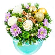 """A box of flowers for Christmas"" in the online flower shop flora.od.ua"